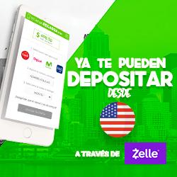 ¡YoVendoRecarga.com habilita Zelle para depositar desde EEUU!